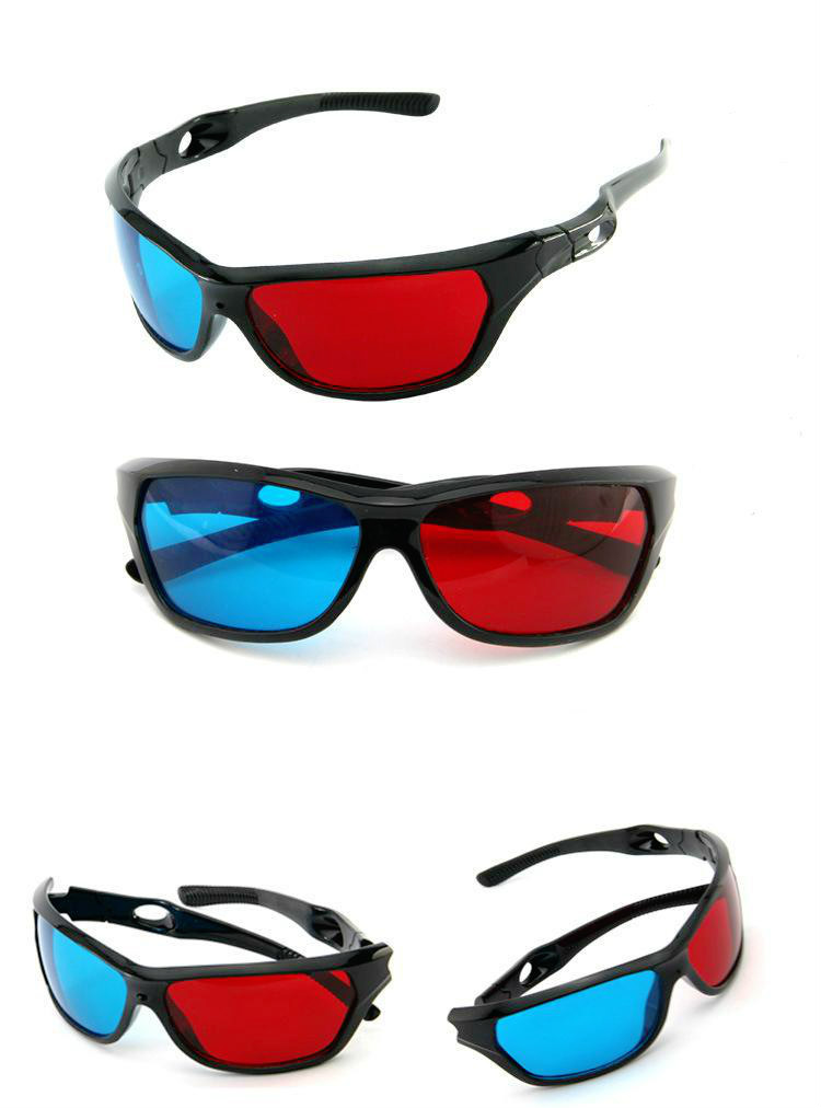 548706f2fa0b ZUCZUG new Black Frame Universal 3D Plastic glasses/Oculos/Red Blue ...