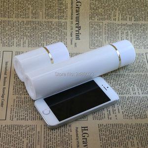 Image 5 - 50ml 100ml boné Branco Garrafa De Plástico Sem Ar Garrafas de Bomba Airless Com linha Dourada Vácuo Recipientes Loção cosmética 10 pçs/lote