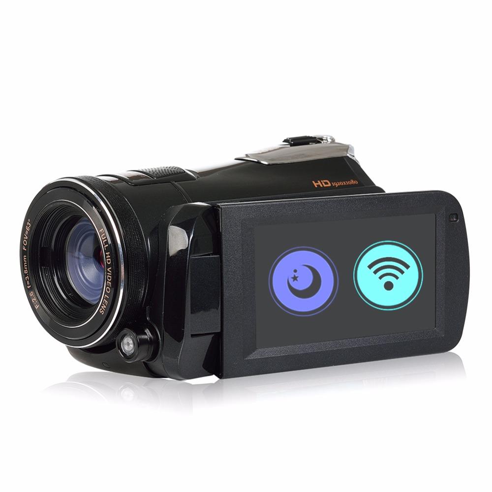 Marvie LED Fill Lights Portable 24.0 MP 3.0 Screen DV Camera FHD Camcorder Digital Video Recorder 16X Zoom IRNight Vision Cam 4