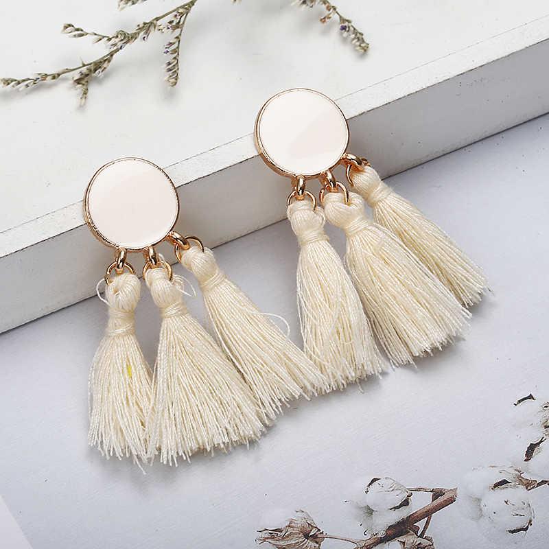 2018 Brincos Women Brand Boho Drop Dangle Fringe Earring Vintage Ethnic Statement Tassel earrings fashion jewelry Charms