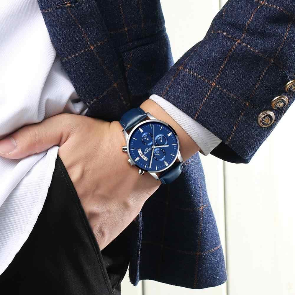 NIBOSI 2019 Relogio Masculino עמיד למים Mens שעונים למעלה מותג יוקרה אוטומטי-תאריך קוורץ שעון גברים הכרונוגרף עסקי גברים שעון
