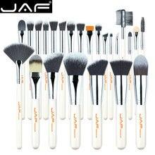 JAF 24 sztuk wysokiej jakości pędzle do makijażu narzędzia, profesjonalny zestaw pędzli do makijażu wegańskiego, zestaw pędzli do makijażu Premium J2434Y W