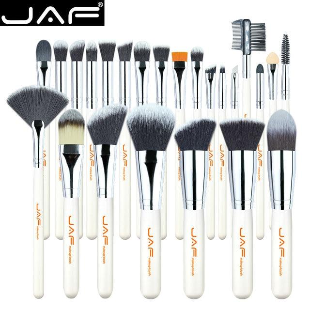 JAF 24pcs High Quality Makeup Brushes Tools, Professional Vegan Makeup Brush Set, Premium Makeup Brush Kit J2434Y W