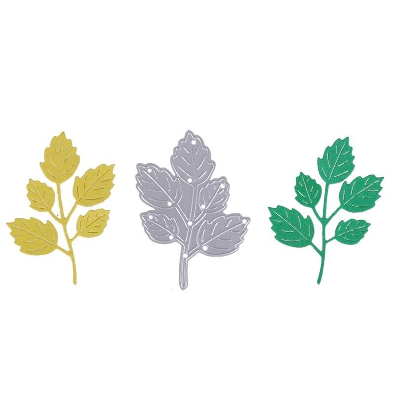 Leaf Cutting Dies Stencils Scrapbook Embossing DIY Craft Album Card Metal Cutting Dies Stencils Photo Decorative Craft Cut Dies