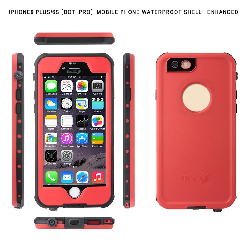 New Arrival Waterproof Phone Case Back Cover For Iphone 6/6s/6plus/6s plus Shockproof Phone Pouch Case