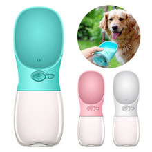 Portable Pet Dog Cat Drinking Water Bottle 350ML Fedding Food Grade Plastic Outdoor Travel The Fountain Bowl Feeder