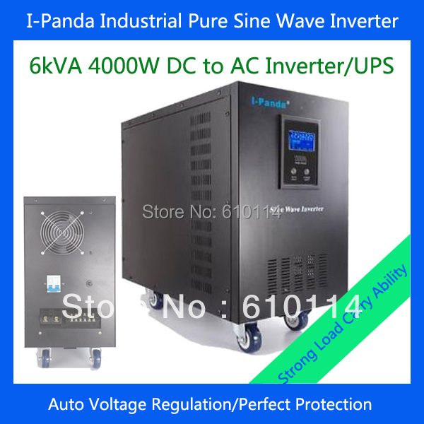 CE RoHS 6000VA 4000w DC to AC power inverter 4000w pure sine wave inverter charger with uninterruptible power supply AVR RS232