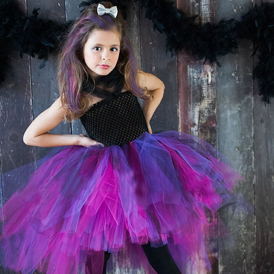 Wild Queen Children Girl Tutu Dress Halloween Girls Dresses Cosplay Costume Little Witch Vampire Pirate Tutu Dress TS088 garmin edge 810 hrm cad