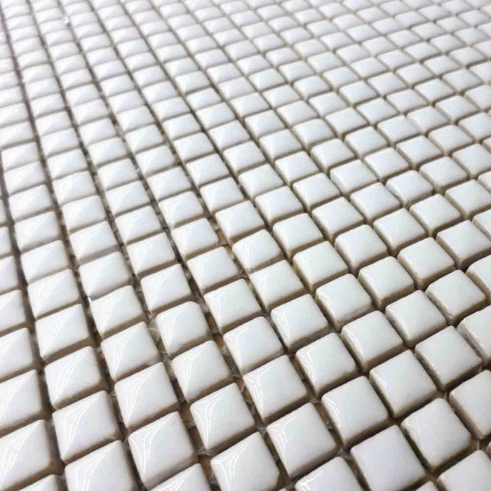 9.5*9.5mm mini white color glazed ceramic mosaic tile for bathroom ...