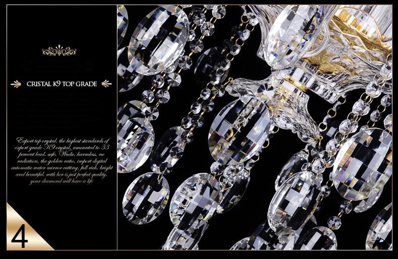 Svetlobni lestenec Moderni kristal Veliki lestenci Luksuzni Moderni - Notranja razsvetljava - Fotografija 6