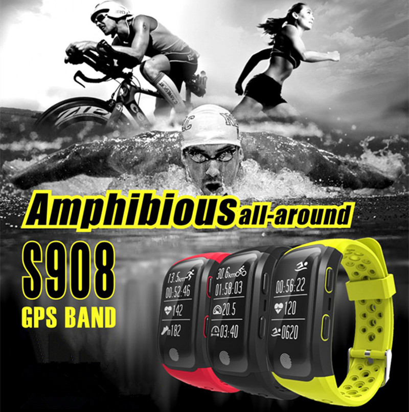 цены Sporch S908 IP68 Waterproof Wristband Bluetooth GPS Tracker Smart Bracelet Heart Rate Monitor Fitness Tracker Smart Band