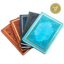 Cuaderno de cuero sintético con Tapa Dura, libro antiguo sin fecha, Vintage