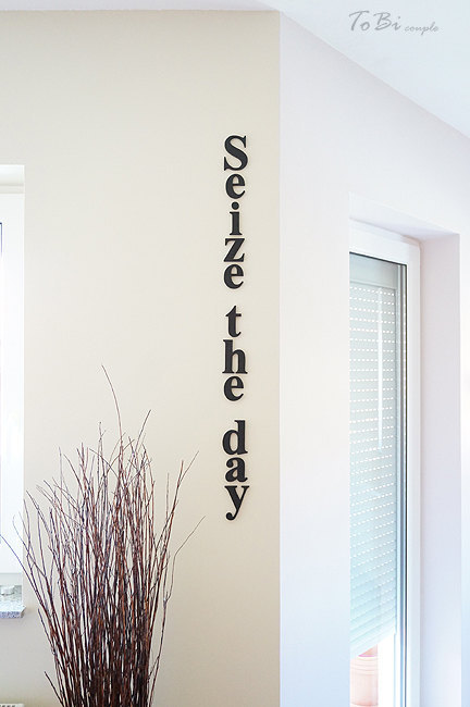 Seize the day, PVC letters, home wall decor