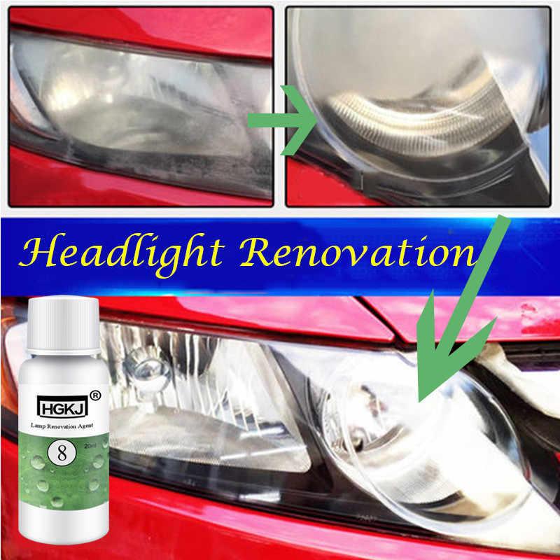 20 Ml Hgkj Auto Accessoires Polijsten Koplamp Agent Bright White Koplamp Reparatie Lamp Cleaning Window Glass Cleaner TSLM1