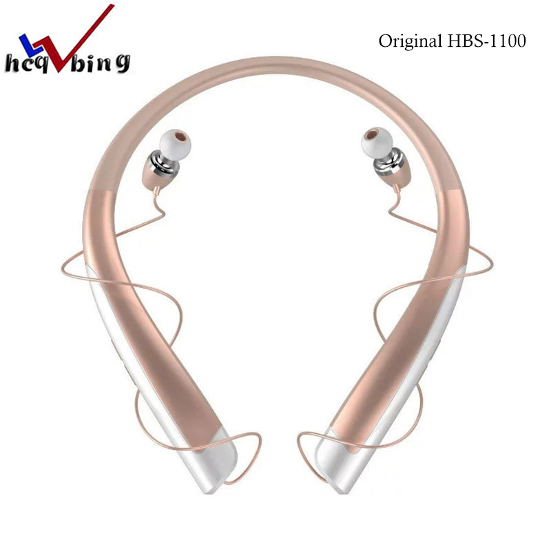 HCQWBING Original HBS-1100 Bluetooth wireless headset sports earphones HBS 1100 HD sound headphones for Apple iphone xiaomi