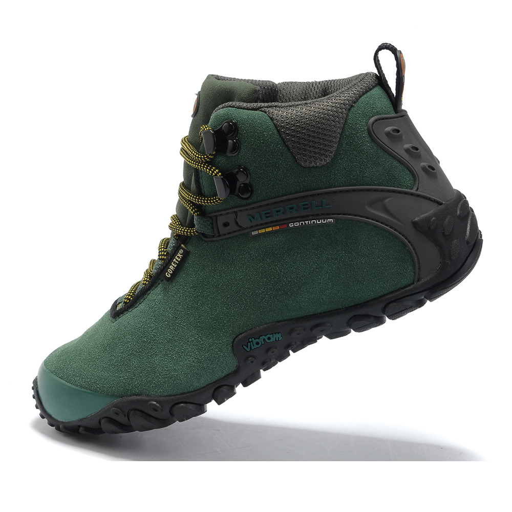 01875cc819 Merrell Women's Camping Winter Outdoor Sport High Top Hiking Shoes Original  Climbing Mountianners Sneakers With Fur Lining Boots-in Hiking Shoes from  Sports ...