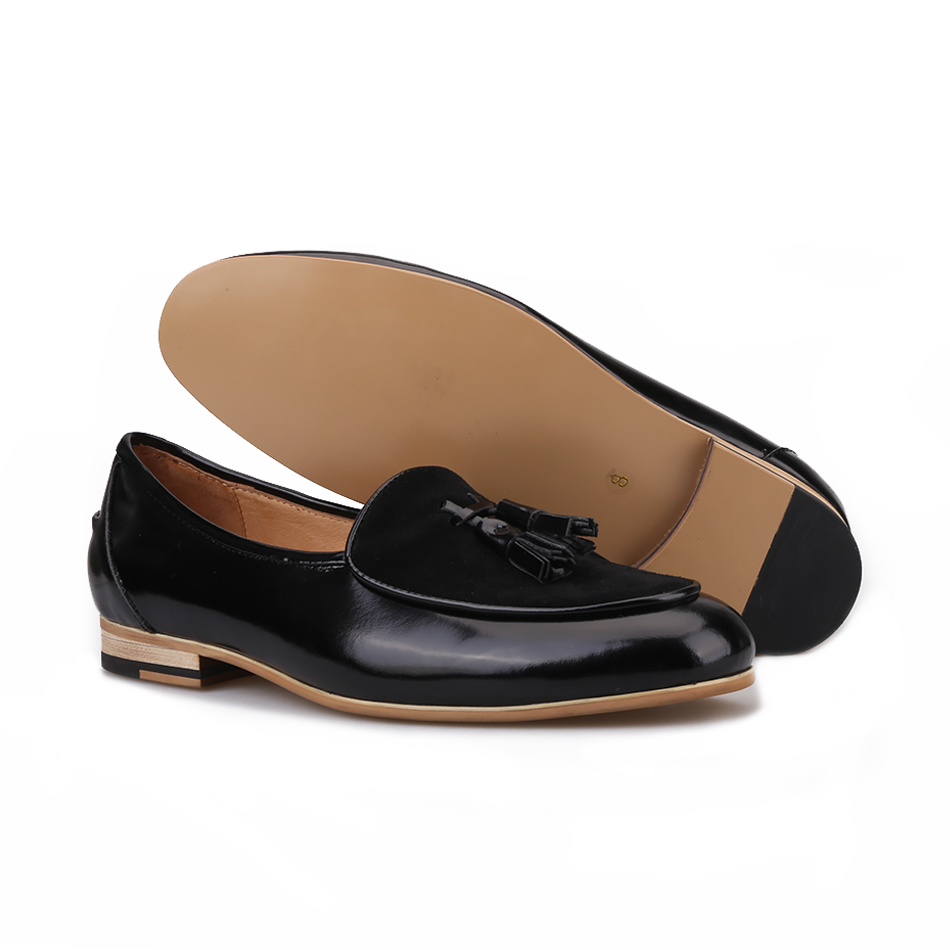 Quaste Männer Casual Faulenzer Handgemachte Rauchen Schuhe Schwarzes Marke Für Bankett Mode brown Und Party 2018 Größe Hausschuhe Große Leder Piergitar YxnqXEIzx