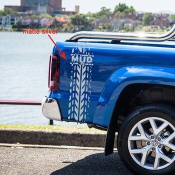 สติกเกอร์รถยนต์ 1 pc ยางโคลนแผนที่รถกระบะ hood tail gate สำหรับ Dodge Ram hilux ranger กราฟิกไวนิลสติกเกอร์