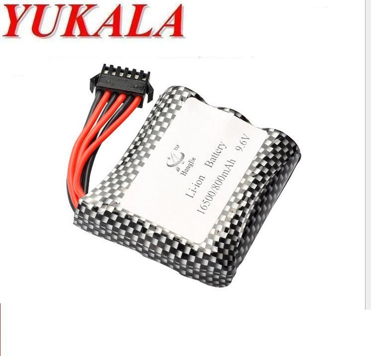 YUKALA S911 S912 <font><b>9115</b></font> 9116 2.4G high speed <font><b>RC</b></font> truck 9.6v 800mAh Li-ion <font><b>battery</b></font> (new plug) image