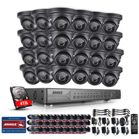 ANNKE 24CH 720P 4TB HDD AHD DVR Outdoor IR Day Night CCTV Security Camera System