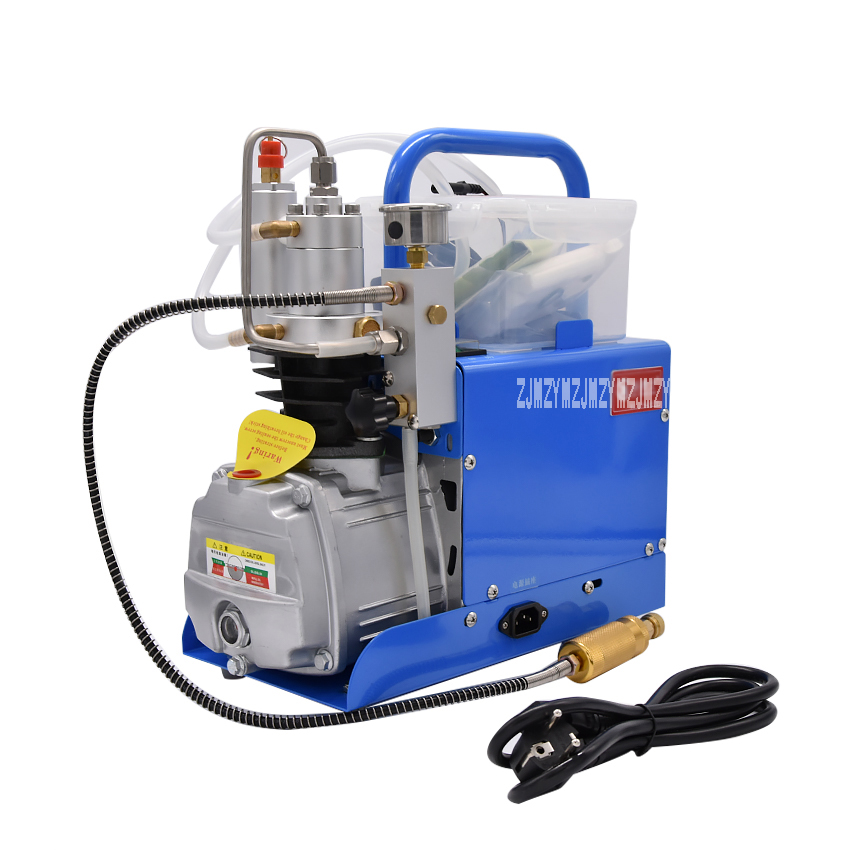High pressure 30 MPA pump water cooling Air Electric Inflator mini CFP On Air Compressor 220 V with alarm and filter 1.8KW рубашка мужская greg horman цвет синий белый 2 171 20 1393 размер 39 46