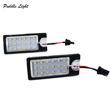 2x 18SMD For Volvo V70 XC70 S60 S80 XC90 LED license plate light Car styling car led for 12v Auto parts accessory