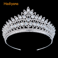 Diadema de Corona para mujer, accesorios para el cabello de boda, diseño geométrico clásico de lujo, elegante, BC3103, Corona Princesa