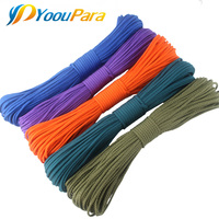 1000FT Paracord 550 Parachute Cord Rope Cuerda Escalada 7Strand Paracorde Outdoor Campling Survival Paracord Rope 252 Colors