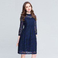 2017 Plus Size L-5XL Summer Dress Sexy Embroidery Lace Hollow Evening Party Womens Clothing Beach Club Ladies Ukraine Dresses