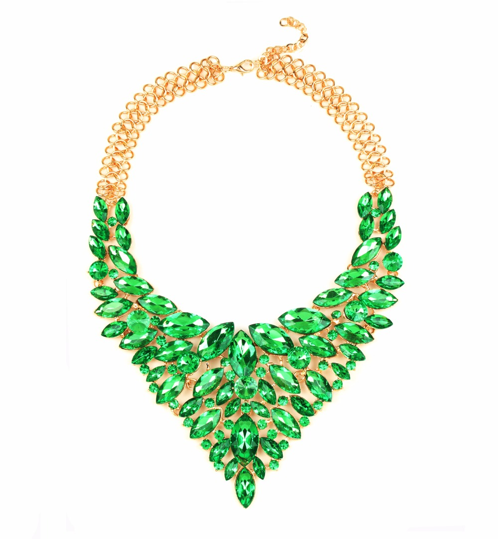 beaded full gemstone necklace designer green set