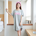 2016 Outono Estilo Mulheres Nightgowns Robe Sleepshirts Pijamas Roupa Camisola Salão Sono Das Mulheres da menina Bonito Roupa de Dormir