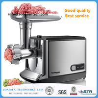 ZONESUN 220v steel meat cutter slicer,meat cutting machine for household or restaurant