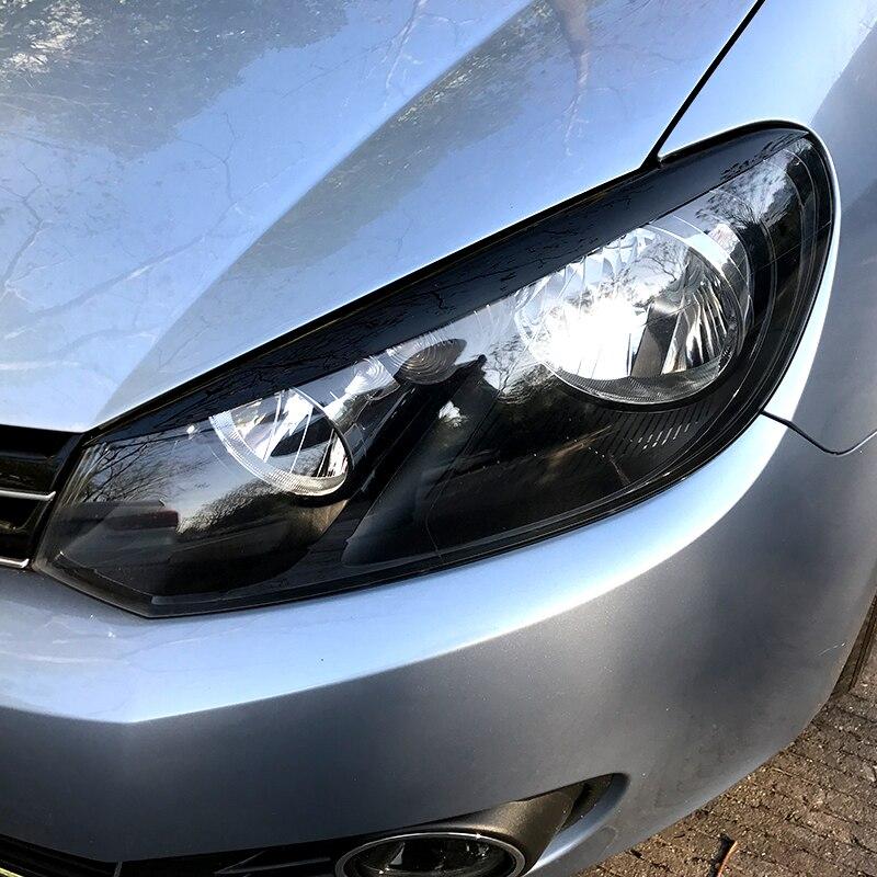 Faro de coche ceja párpados ABS pegatinas cubierta de ajuste para Volkswagen Golf 6 MK6 VI Accesorios Estilo de coche