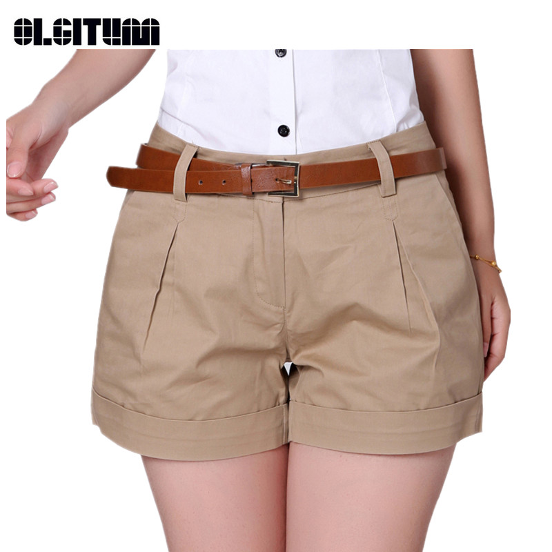 2018 New Hot Sale Korea Summer Woman Cotton Shorts New Fashion Design Lady Casual Short Trousers Solid Color PT031