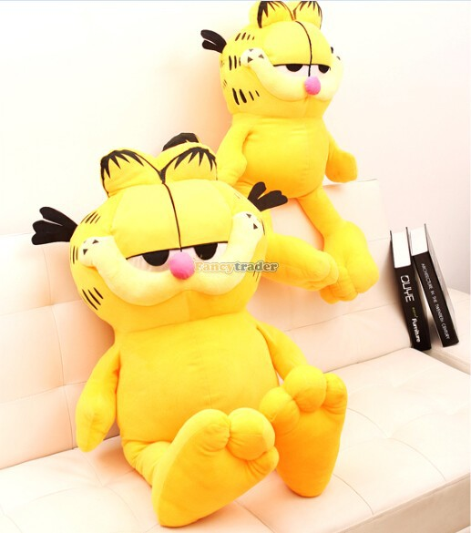 Fancytrader Very Lovely Cat Toy 51'' 130cm Super Cute Soft Giant Plush Garfield Cat, Nice gift for Child,Free Shipping FT90252 50pcs lot 3296w 1 502lf 3296w 502 5k ohm top regulation multiturn trimmer potentiometer high precision variable resistor