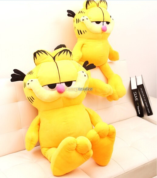Fancytrader Very Lovely Cat Toy 51'' 130cm Super Cute Soft Giant Plush Garfield Cat, Nice gift for Child,Free Shipping FT90252