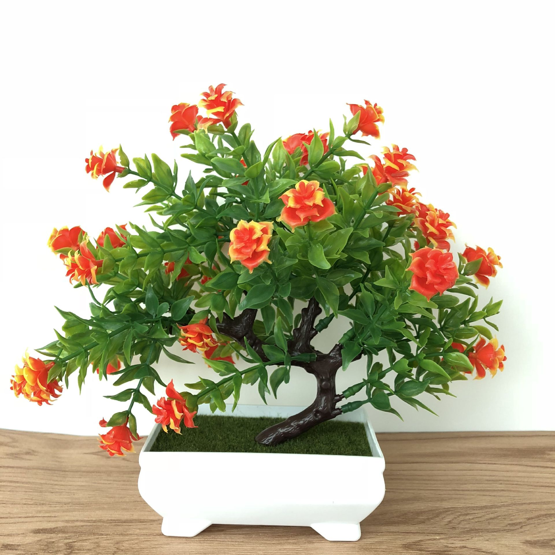 Fake Artificial Plant Plastic Bonsai Flower Wedding Office Home Decor Simulated Potted Plant Tree Flower Ornament Home Decoratio