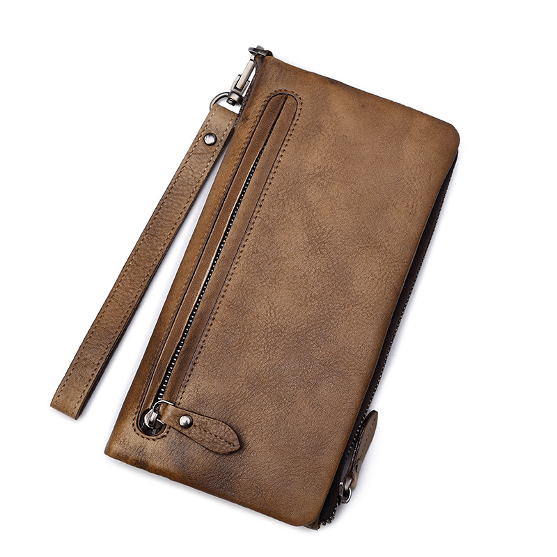 Clutch Male Wallet Men genuine leather Wallets Wristlet Men Clutch Bags Coin Purse Men's Wallet Real Leather Male Purse bostanten wristlet split leather men wallets zipper coin purse holders design leather male wallet large capacity wallet for men