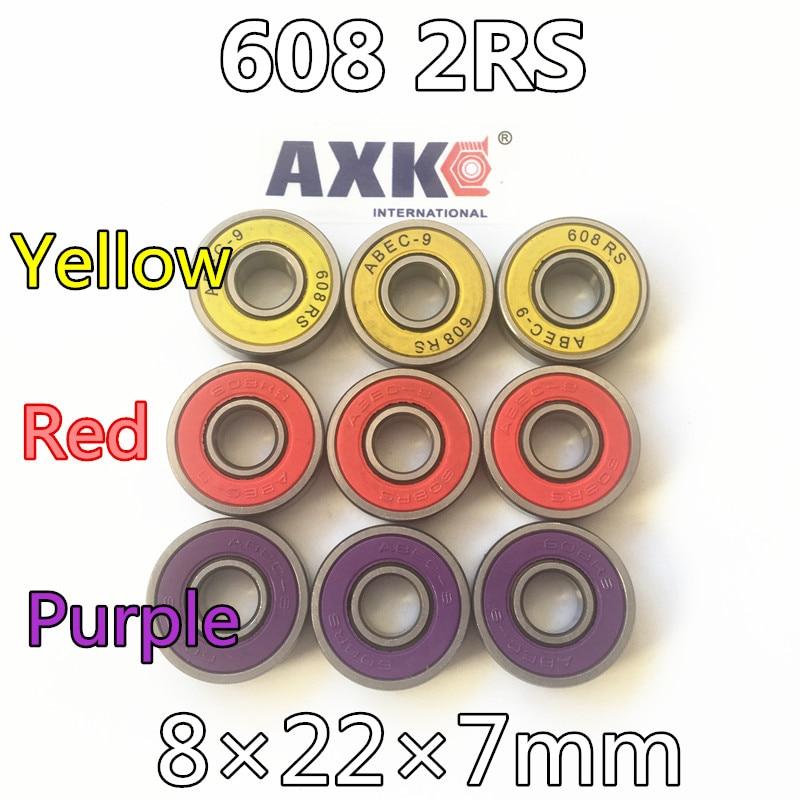 Free Shipping 608rs 608 2rs 608 Bearing Abec-9 8*22*7 Mm 8x22x7 Mm Skateboard Ball Bearings Emq Z3v3 608-2rs 608rs Bearing