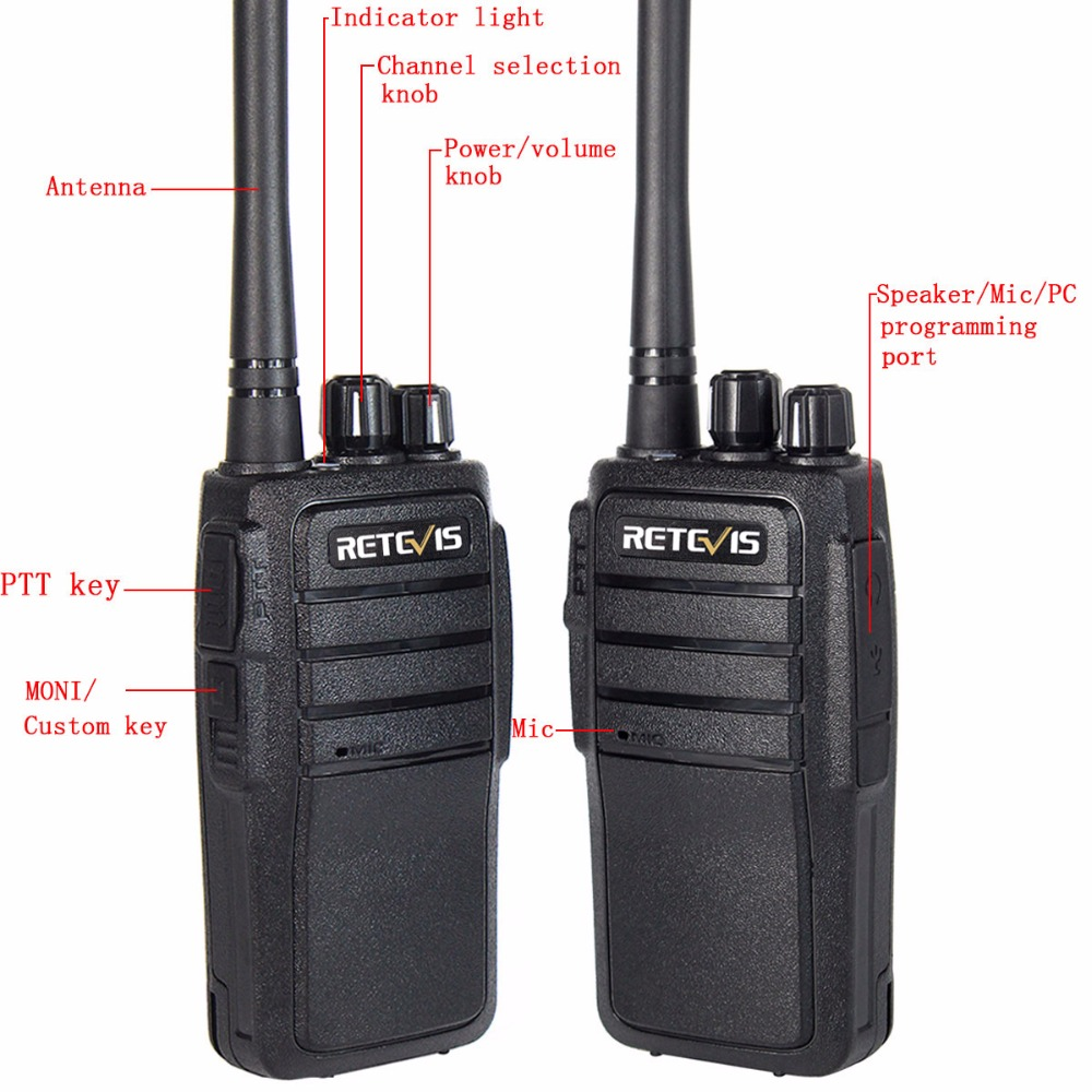 2kom Walkie Talkie Retevis RT21 UHF 2.5W VOX Ham Radio Hf - Voki-toki - Foto 3