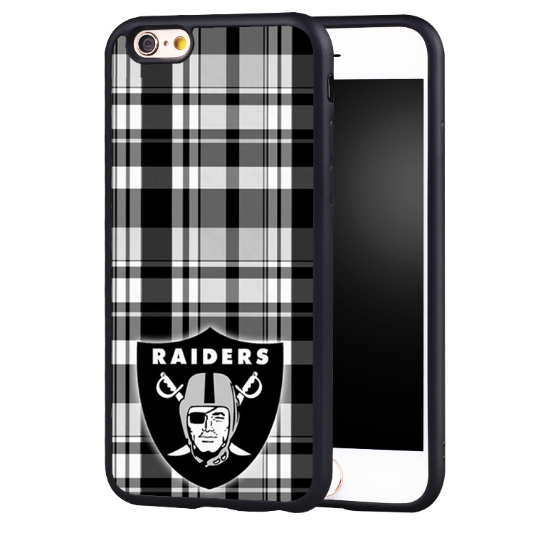Oakland Raiders Football Argyle Printed Soft TPU Cell Phone Cases For iPhone 6 6S Plus 7 7 Plus SE 5 5S 5C 4 4S Back Shell Cover
