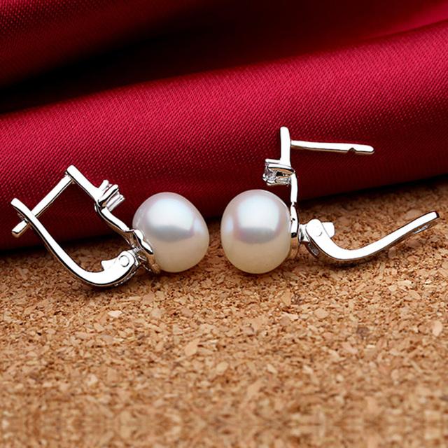 Women Pearl 925 Sterling Silver Fine Jewelry Set