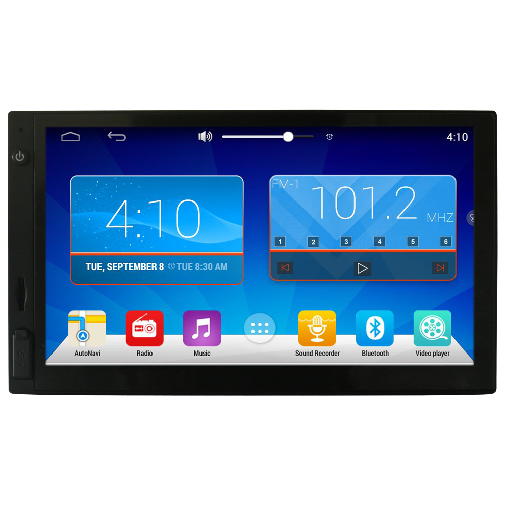 "2 Din Car Radio Stereo 7"" Android Double Din DVD Video Player Autoradio GPS Navigation Quad Core WIFI Touch Sreen 2din Car Radio"