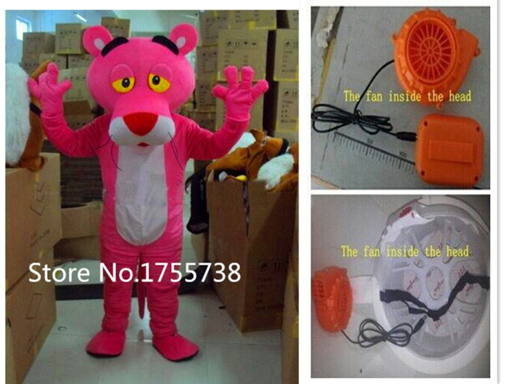 Adult size  pink panther Mascot costume cartoon clothing mascot Costume fast shipping