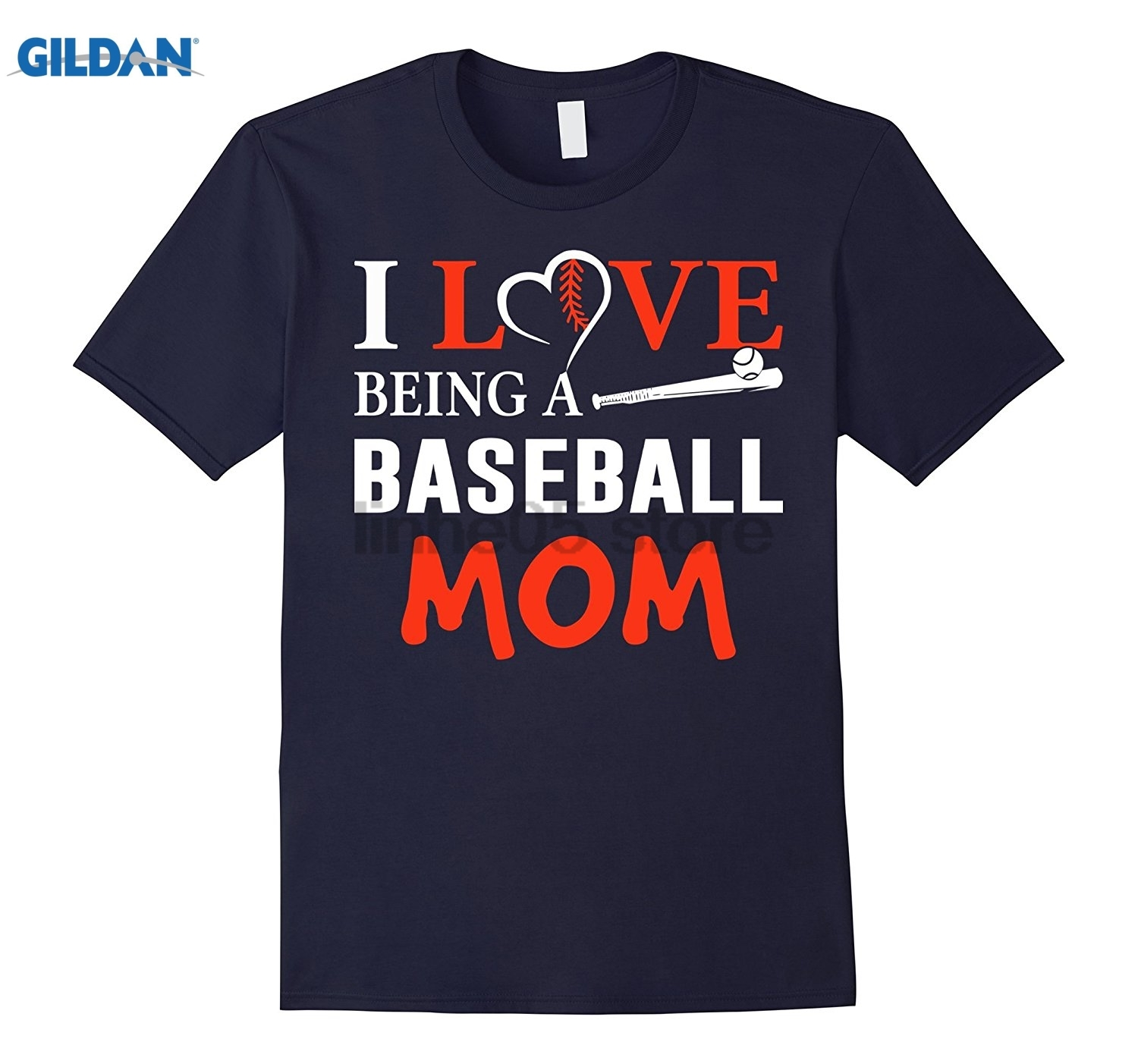 GILDAN I Love Being A Baseball Mom T Shirt, Sporty Mom T Shirt Hot Womens T-shirt