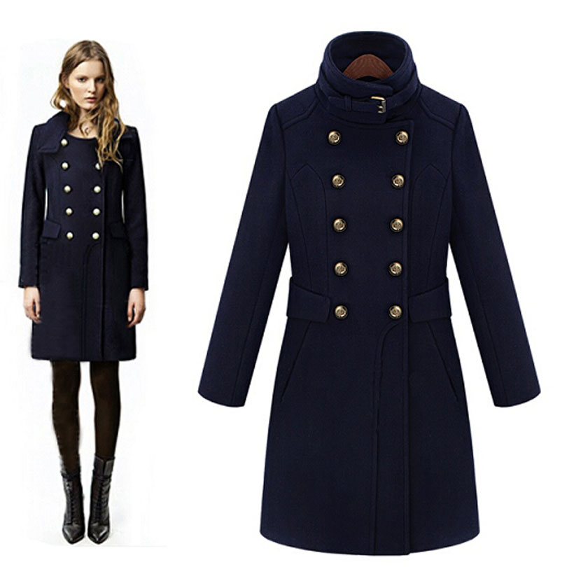 Popular Navy Double Breasted Coat-Buy Cheap Navy Double Breasted ...