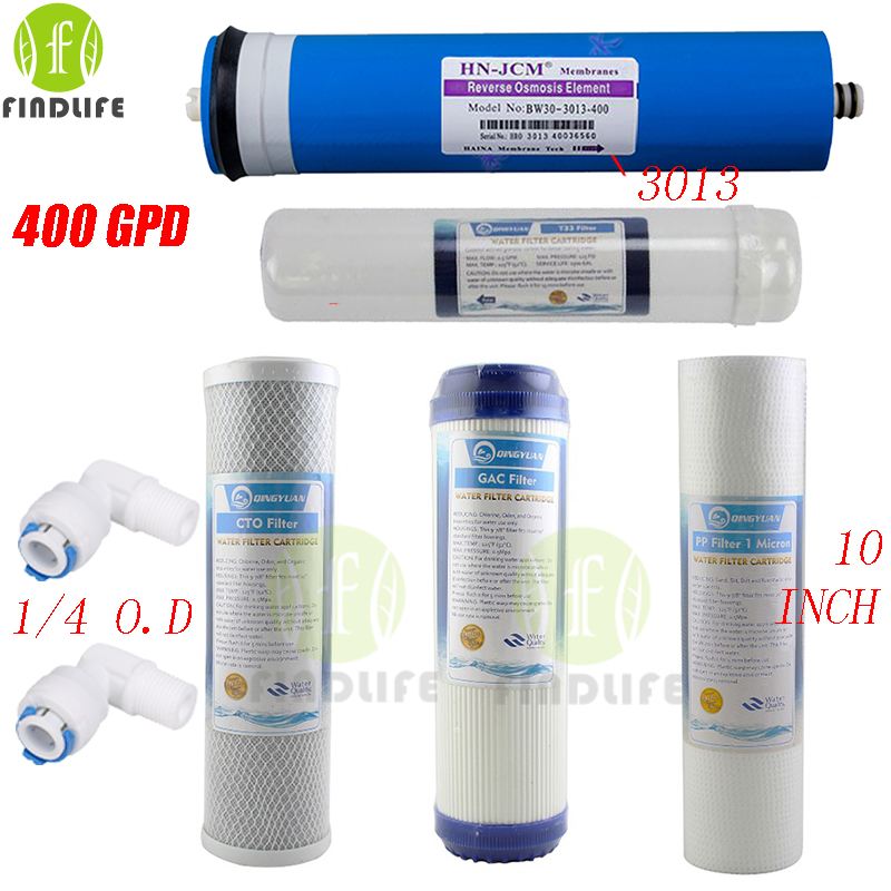 5 STAGE WATER FILTER Replacement filter 400 gpd RO membrne and ppf gac cto t33 for  REVERSE OSMOSIS Water Purifier5 STAGE WATER FILTER Replacement filter 400 gpd RO membrne and ppf gac cto t33 for  REVERSE OSMOSIS Water Purifier