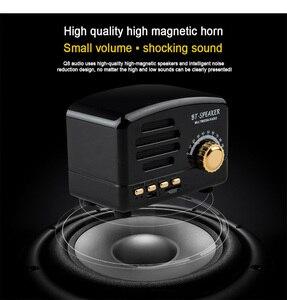 Image 3 - Retro alto falante sem fio bluetooth mini alto falante portátil alto falante baixo pesado ajustável suporte tf cartão fm rádio leitor de música