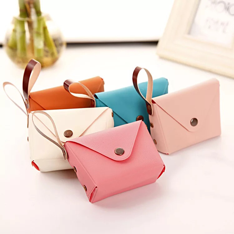 Fashion PU Leather Purse Wallet Candy colors Coin purse Card Holder Female Purse Wallets For Women Girl clutch bag handbag