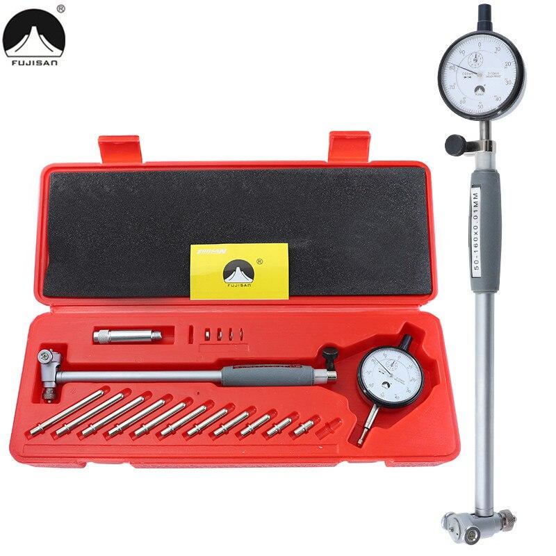 Dial Bore Gauge Indicator 50-160mm/0.01mm Metric Engine Cylinder Test Indicators Internal Diameter Measuring Tools